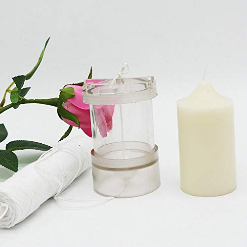 Gano Zen Candle Making 6cm Cylinder-Shape Plastic Clear Candle Moulds Molds for Home DIY Craft Candle Making Mold Accessoires PC Tube Handmade Tool Height 20cm by Gano Zen (Image #1)