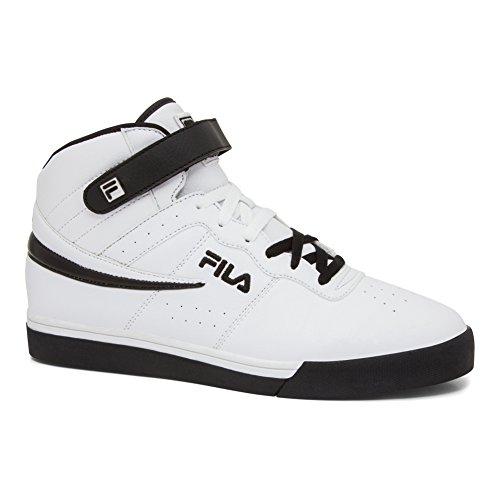 Sneakers White Fila (Fila Men's Vulc 13 Mid Plus Fashion Sneakers, White, Microsuede, Rubber, 14 M)
