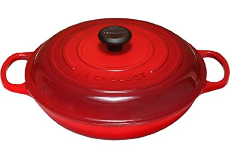 Black Le Creuset Signature Enameled Cast-Iron 1-1//2-Quart Round Braiser