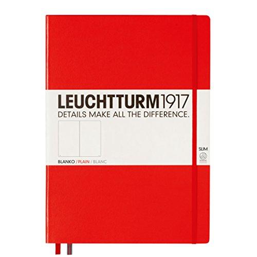 Leuchtturm Slim Master Hardcover Plain Red