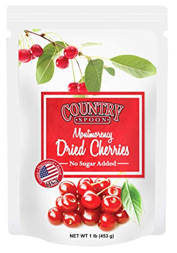 (Country Spoon No Sugar Added Dried Tart Montmorency Cherries, 1 pound)