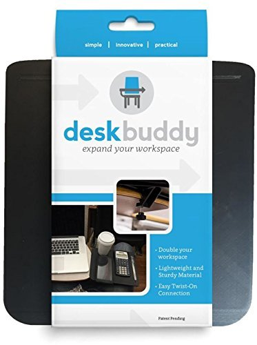 Desk Buddy Lecture Desk Extender - Easily Attaches onto Most Desk Surfaces (Compatible with a Desk That's 3/8 inch to 1 inch Thick) ()