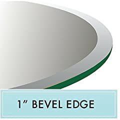 """This 60"""" Round Tempered Glass Table Top features 1/2"""" thick glass with a 1"""" beveled edge. Our glass is of the highest quality and is offered at an affordable price. Give your dining room or kitchen an instant make over with a new glass table ..."""