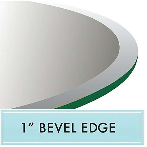 42'' X 72'' E-oval Tempered Glass Table Top 1/2'' Thick 1'' Beveled Edge. by Spancraft Glass