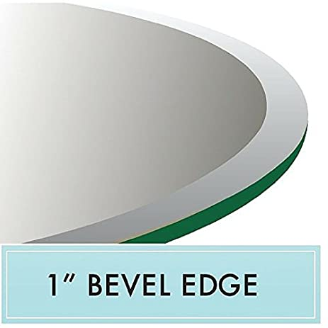 24u0026quot; Round Tempered Glass Table Top 1/2u0026quot; ...