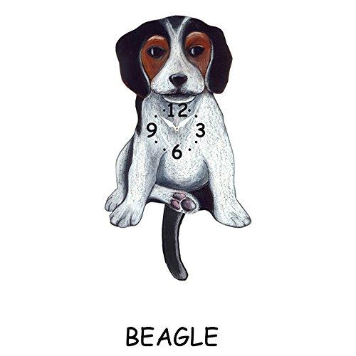 beagle wagging tail clock