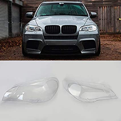 Headlight Transparent Lens Covers Replacement for 4 doors Auto Parts X5 E70 07-14 (1 pair) porbao