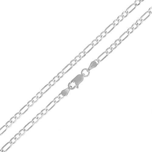 Sterling Silver Italian 3mm Figaro Link Diamond-Cut ITProLux Solid 925 Necklace Chain 16