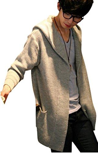 (アルファーフープ)α-HOOP メンズファッション 長袖 カーディガン パーカー ジャケット フード付き シンプル 柄 S ~ XXL 大きいサイズ も KDG1