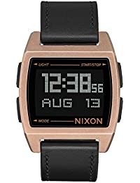 Base Leather Digital Watch Antique Copper with Black Band