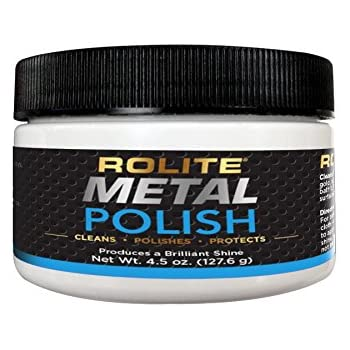 Rolite Metal Polish Paste - 4.5oz, Industrial Strength Polishing Cream for Aluminum, Chrome, Stainless Steel & Other Metals, 1 Pack