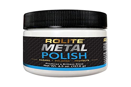 Rolite Metal Polish Paste (4.5oz) for Aluminum, Brass, Bronze, Chrome, Copper, Gold, Nickel and Stainless Steel