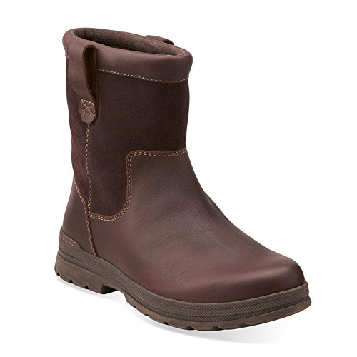 Clarks Mens Ryerson Peak Winter Boot Marrone Pelle Martellata