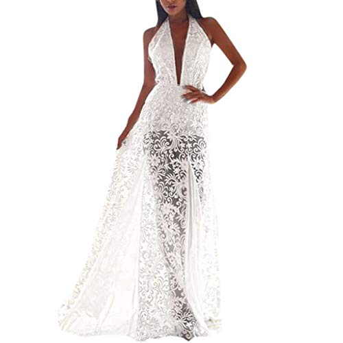 Big Sale YetouWomen's Summer Organza Floral Print Wedding Party Ball Prom Gown Cocktail Dress White