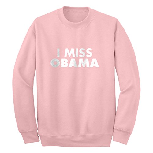 Crew I Miss Obama Large Light Pink Sweatshirt