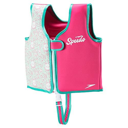 Speedo Begin to Swim Printed Neoprene Swim Vest, Bright Pink, Medium