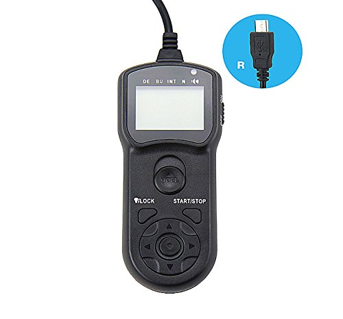 JJC TM-R Wire Multi-Function LCD Timer Remote Control for Fujifilm X-M1 X-E2 X-A1 XQ1 X-T1 X-100T X-30 FinePix S1 Replaces RR-90