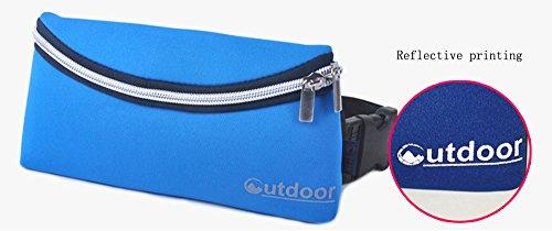 BIKMAN Outdoor Unisex Waterproof Travel Hiking Sport Gym Running Jogging Waist Bag Fanny Pack Key Money Phone Case Runner Belly Pouch (blue)