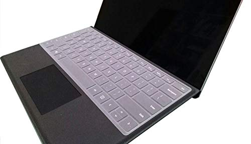 """Silicone Clear Keyboard Cover Ultra Thin Skin Compatible Microsoft Surface Laptop 2017 & Microsoft Surface Laptop 2 2018 & Surface Book & 13.5"""" and 15"""" Microsoft Surface Book 2 (2017/2018 Released) -  JuYuish, JYH-WRSFBK-TSPT"""