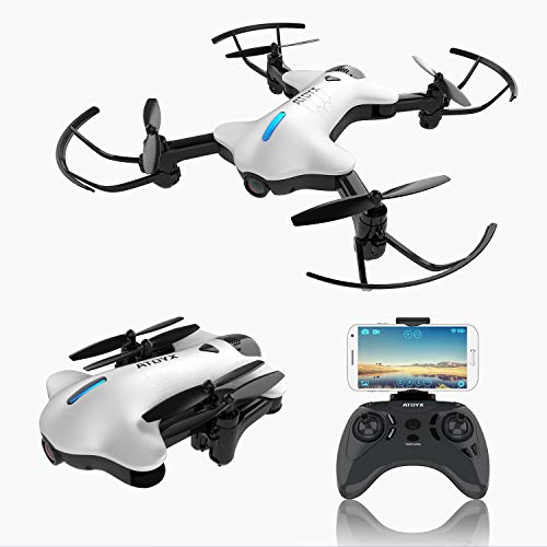 2019 Upgraded Drones with Camera for Adults, 720P HD Wide-Angle Lens, Real-time Live Video, RC Quadcopter with 3D Flips and a Variety of Functions, Super Easy to Flying Drone is a Fun Gift