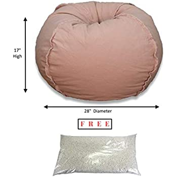 Amazon Com Large Microsuede Bean Bag Chair In Coral