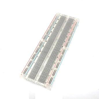 superiparts Smart Electronics cristal sin soldadura soldadura menos Breadboard Protoboard 2 autobuses Tie-point Tiepoint 830 para Arduino DIY Kit: ...