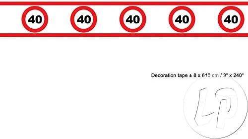 Banda Tráfico cartel 40 cumpleaños 8 cm de altura 610 cm de ...