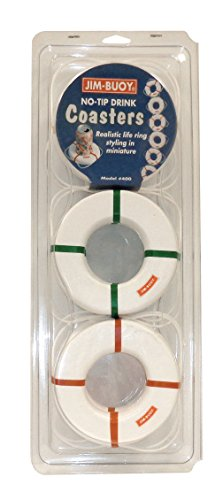 Jim-Buoy 400 Miniature Life Ring Coasters (6 Pack)