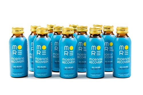 Morning Recovery Drink V2, Liver Detox and Electrolyte Supplement with Dihydromyricetin (DHM), N-Acetyl cysteine (NAC), Milk Thistle, B6 & B12, 3.4 fl oz (Vegan, Caffeine-Free, Non-GMO) (Pack of 12)