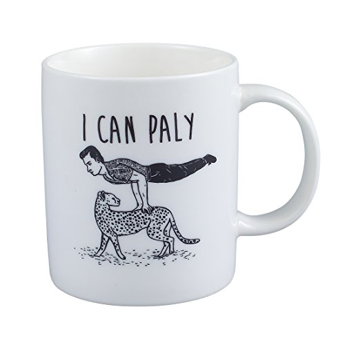Neolith Novelty Cute Mugs I Can Play Mug 12 Oz Ceramic Coffee Mug Unique Gift for Sports Fans Vaulting on A Leopard Mug