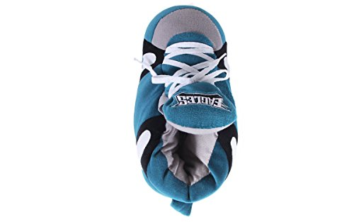 Licensed Sneaker Feet Happy And Mens Nfl Slippers Comfy Eagles Philadelphia Womens Officially 8Ct5nnxq
