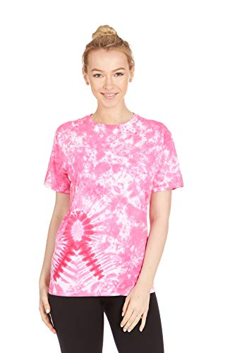 Krazy Tees Tie Dye T-Shirt, Pink Ribbon, - Ribbon Pink Apparel