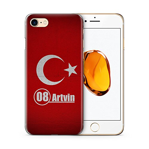 Artvin 08 Türkiye Türkei Hülle für iPhone 7 SLIM Hardcase Cover Case Handyhülle Tasche Turkey Bayrak
