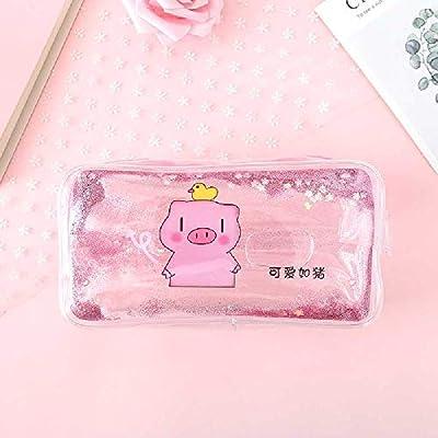 Wangtao - Estuche de Papel de Lija Transparente con diseño de Cerdo de Dibujos Animados, Cute Like Pig: Amazon.es: Deportes y aire libre