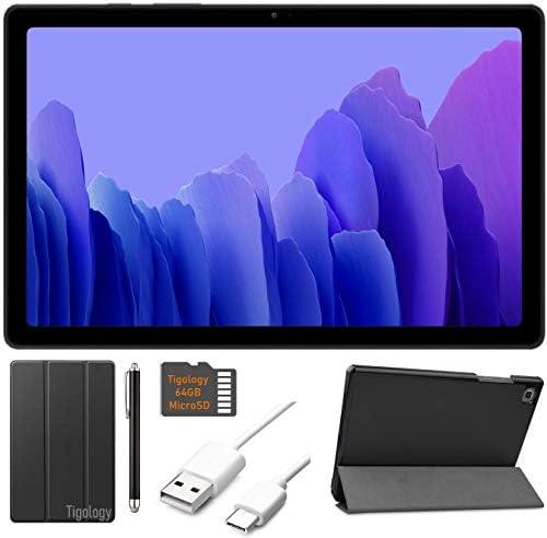 2020 Samsung Galaxy Tab A7 10.4'' (2000x1200) TFT Display Wi-Fi Tablet Bundle, Qualcomm Snapdragon 662, 3GB RAM, Bluetooth, Dolby Atmos Audio, Android 10 OS w/Tigology Accessories (64GB, Gray)