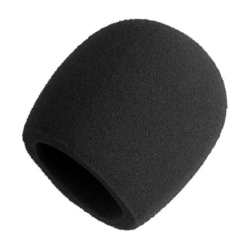 Shure A58WS-BLK Foam Windscreen for All Shure Ball Type Microphones, Black (Foam Windscreen Mic)
