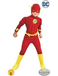 DC Comics Deluxe Muscle Chest The Flash Child's Costume, Small