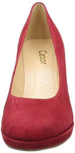 Gabor Shoes Fashion, Sandalias con Plataforma para Mujer Rojo (Rot LFS Natur)