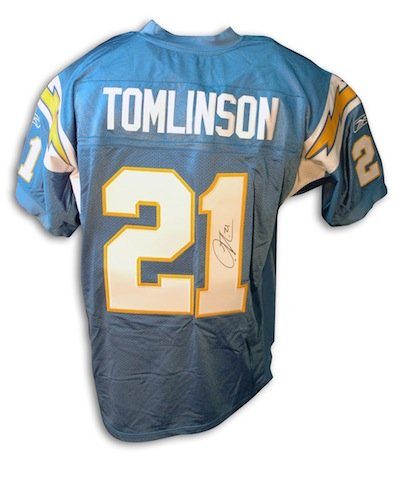 Autographed LaDainian Tomlinson San Diego Chargers Powder Blue Reebok Authentic Jersey (Autographed Jersey Authentic Reebok Blue)