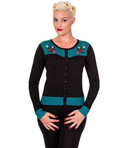 50s Rockabilly Banned Cardigan Tatouage Style Emily Hirondelle OwzTR8q