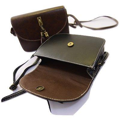 Brag Bag Small Black Leather Handbags For Women Mini Crossbody Purse Tassel Bag Womens Shoulder Bag by BragBag (Image #3)