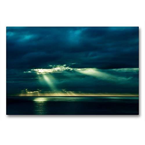 CALVENDO Toile de Lin de qualité supérieure - 90 x 60 cm - Toile Murale - Toile imprimée sur châssis - Motif Nature