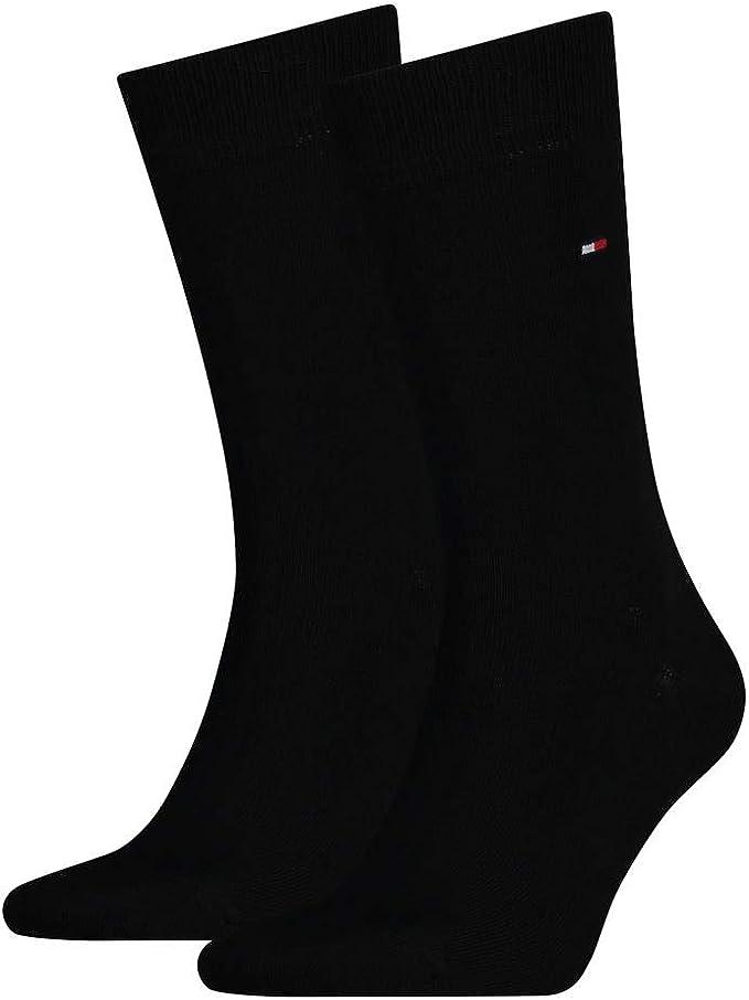 Tommy Hilfiger 2-Pack Chaussettes pour Hommes Noir
