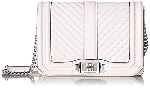 Rebecca Minkoff Chevron Quilted Small Love Crossbody, Optic White by Rebecca Minkoff