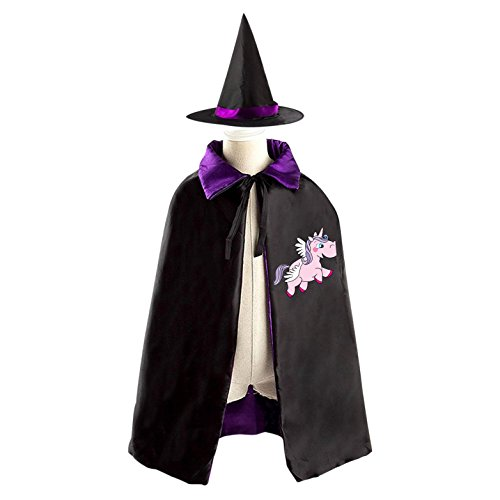 Children Cosplay Costume Wizard Witch Cloak Halloween Cape with Hat