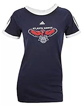 Adidas Atlanta Hawks de la NBA para Mujer Manga Corta raglán Camiseta, Color Azul Marino, Azul Marino: Amazon.es: Deportes y aire libre