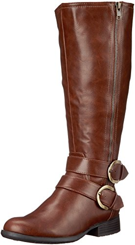LifeStride Womens X-Must WC Riding Boot Dark Tan Tumbled ag7H1T2U