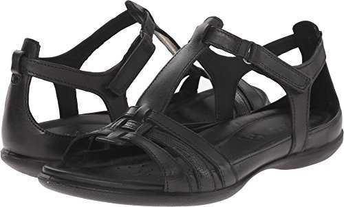 ECCO Women's Flash T-Strap Sandal, Black, 40 EU/9-9.5 M US