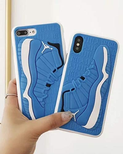 GL Trading Co. iPhone Xs Max Phone Case Cover, Jordan Space Jam 11s 3D Textured Sneaker Shockproof Protective Grippy Case for Apple iPhone Xs Max (Space Jam 11s Blue) (Air Jordan 11 Space Jam For Sale)