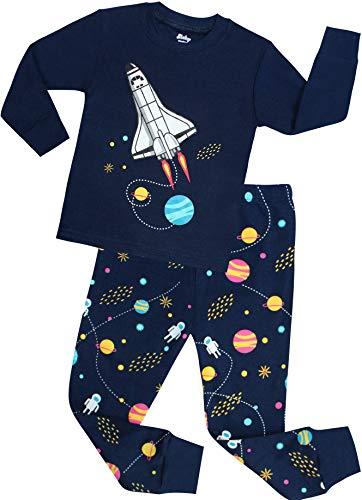 shelry Boys Rocket Pajamas Children Christmas Pants Set 100% Cotton Size 18 Months Blue]()